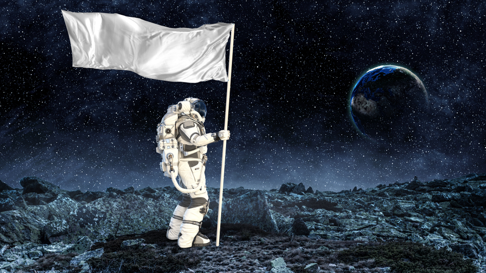 Can you see the flag on the moon with a telescope